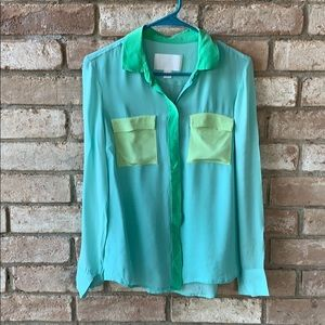 J. Crew color block shirt